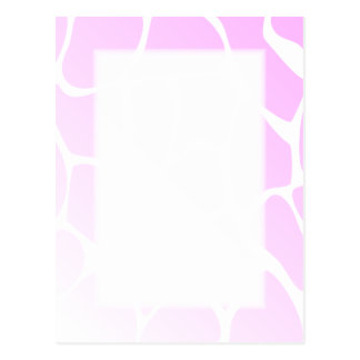 Pale Pink Pattern. Postcard