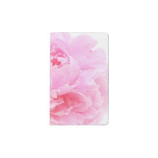 pale pink peony pocket moleskine notebook