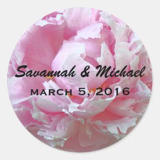 Pale Pink Peony Wedding Favor Label