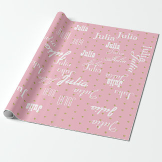 pale pink personalized pattern of names