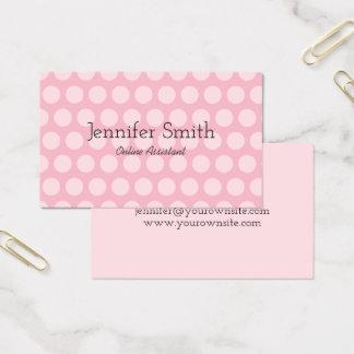Pale Pink Polka Dot Business Card