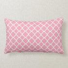 Pale Pink Quatrefoil Lumbar Pillow