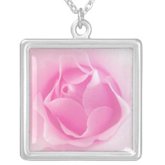 Pale Pink Rose Necklace
