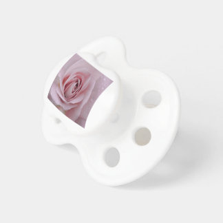 pale pink rose pacifier