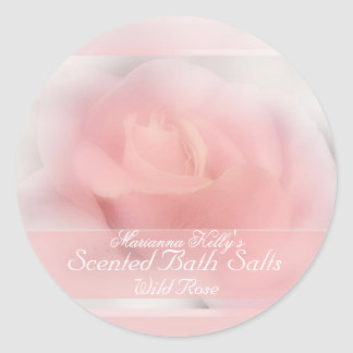 pale pink rose product label
