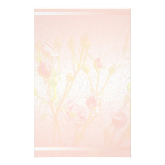 Pale Pink Rosebuds Stationery