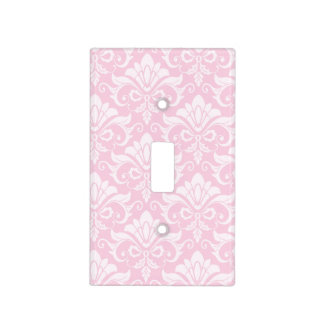 Pale Pink Shabby Chic Damask Light Switch Cover