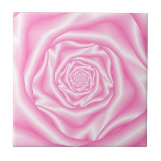 Pale Pink Spiral Rose tile