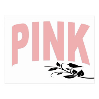Pale Pink Text Postcard