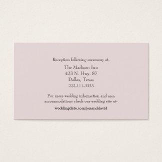 Pale Pink Wedding enclosure cards