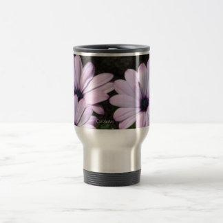 """Pale Purple Daisies"" Travel Mug"