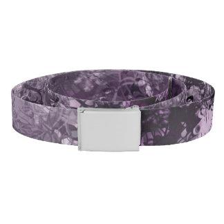 Pale Purple Grunge Collage Belt
