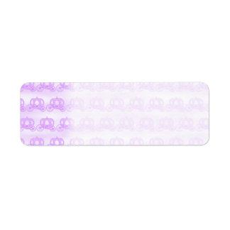 Pale Purple Pattern of Princess Carriages Return Address Label