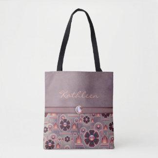Pale Purple / Salmon-SOPHISTICATED-Handbag / Tote