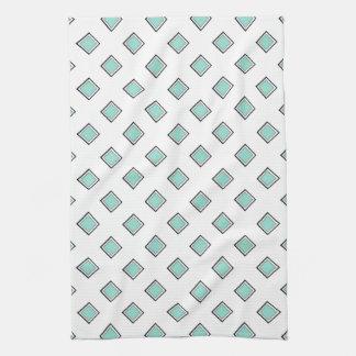 Pale Robin Egg Blue Diamond Color Design Kitchen Towel