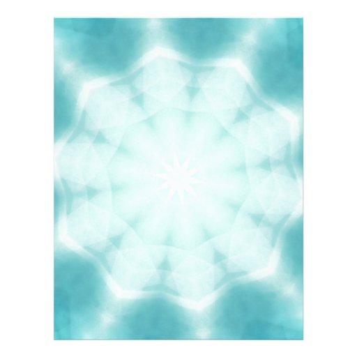 pale snowflakes letterhead