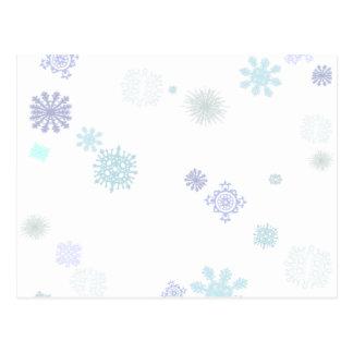 Pale Snowflakes Postcards