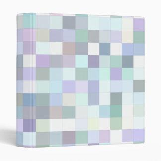 Pale square mosaic 3 ring binders