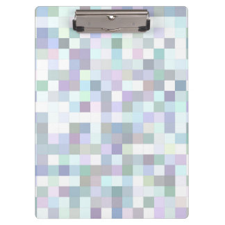 Pale square mosaic clipboard