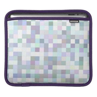 Pale square mosaic iPad sleeve