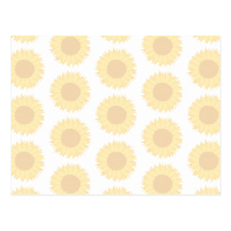 Pale Sunflower Background Pattern. Postcard