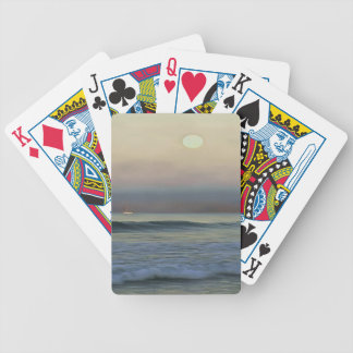 Pale Sunset Bicycle Playing Cards