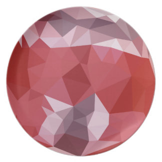 Pale Violet Red Abstract Low Polygon Background Dinner Plates