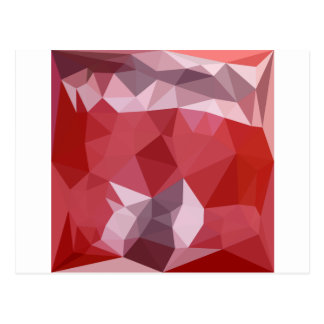 Pale Violet Red Abstract Low Polygon Background Postcard