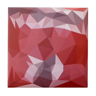Pale Violet Red Abstract Low Polygon Background Tile