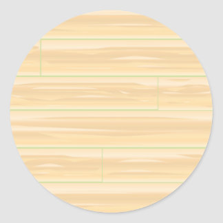 Pale Wood Background Classic Round Sticker