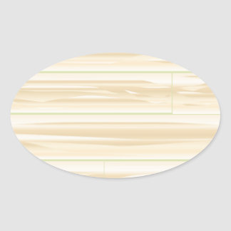 Pale Wood Background Oval Sticker