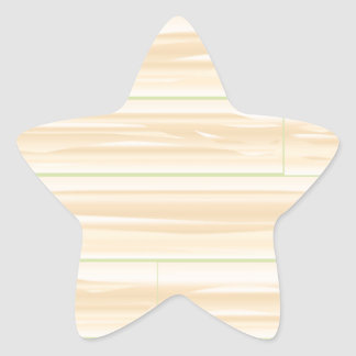 Pale Wood Background Star Sticker