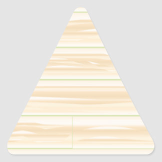 Pale Wood Background Triangle Sticker