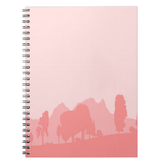 Pale Wooded Foreground Notebook