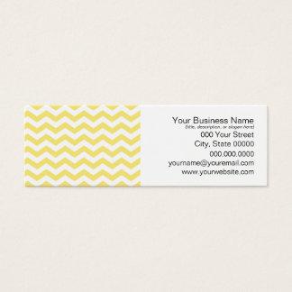 Pale Yellow and White Chevron Pattern Mini Business Card