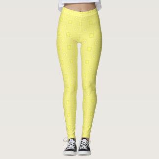 Pale Yellow Designer Leggings by Julie Everhart