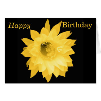PALE YELLOW FLORAL BLOOM GREETING CARD
