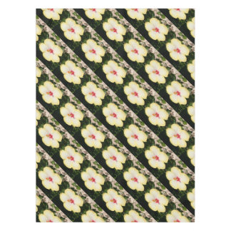 Pale Yellow Hibiscus Flower - Front View Tablecloth