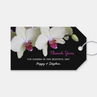 Pale Yellow Orchid Wedding Favor Thank You Pack Of Gift Tags