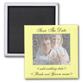 Pale Yellow Save The Date Photo Magnet