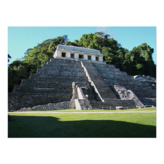 Palenque Temple of Inscriptions Poster