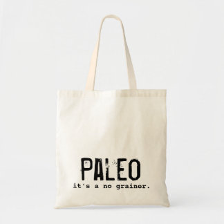 Paleo diet it's a no grainer Vintage Budget Tote Bag