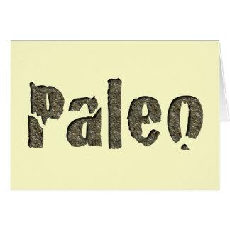 Paleo in Stone Greeting Card