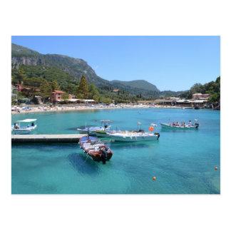 Paleokastritsa Beach, Corfu Postcard