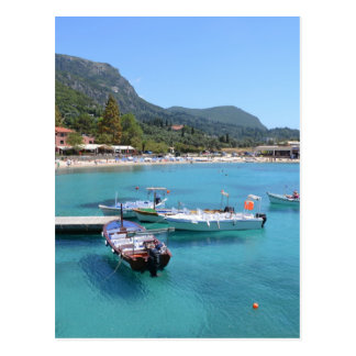 Paleokastritsa Beach Corfu Post Card