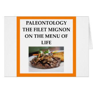 PALEONTOLOGY CARD