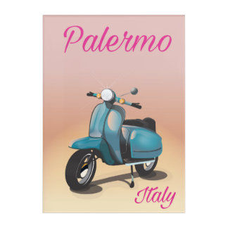 Palermo Italy Scooter poster Acrylic Print