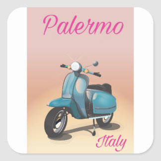 Palermo Italy Scooter poster Square Sticker
