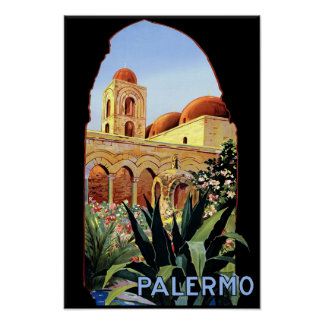 Palermo, Italy travel poster