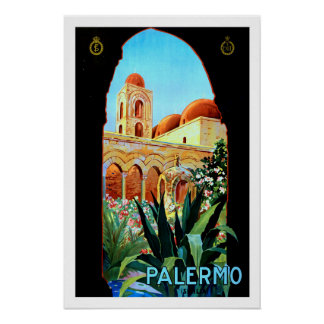Palermo, Italy, Travel Poster